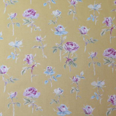 telas divinas-tela flores mostaza