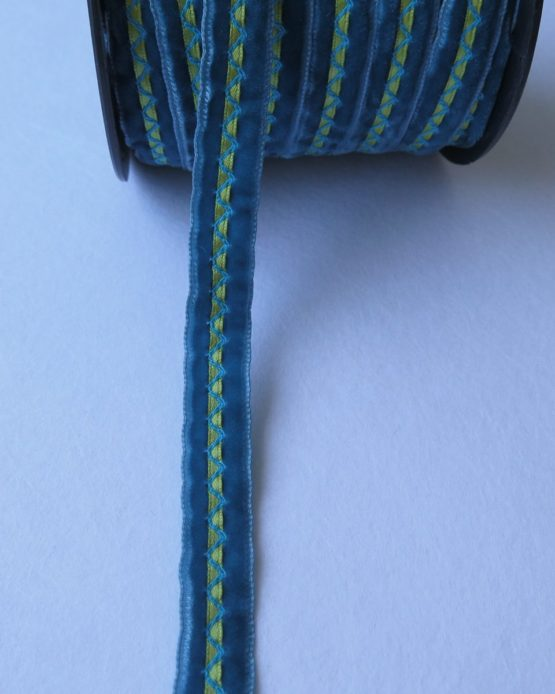 telas-divinas-cinta-terciopelo azul-alianza-telas-online