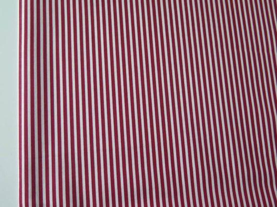 telas rayas blanco rojo