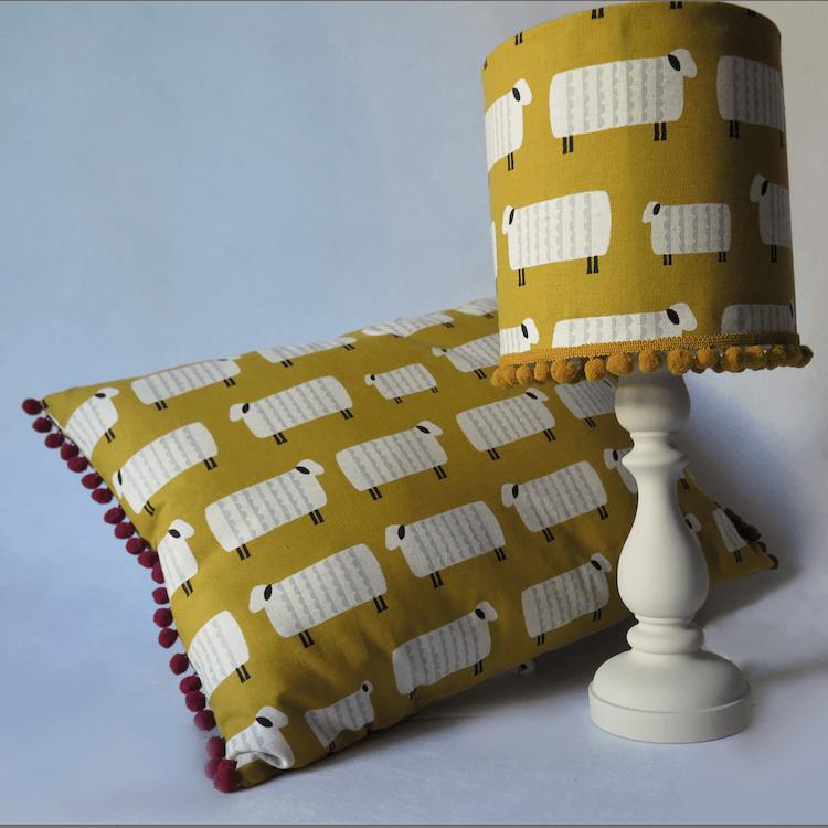 Cómo hacer una lámpara con Telas Divinas