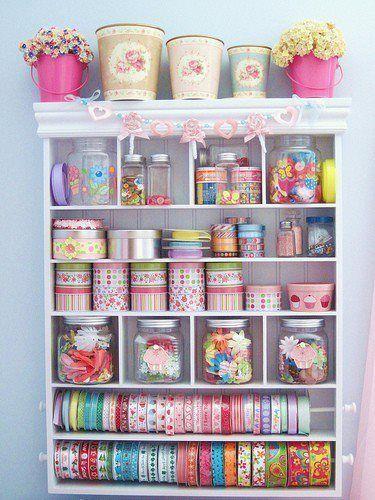 Ideas para almacenar accesorios de costura