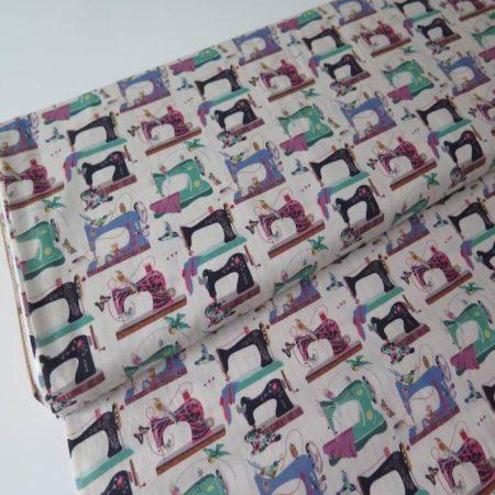 tela estampada vintage costura