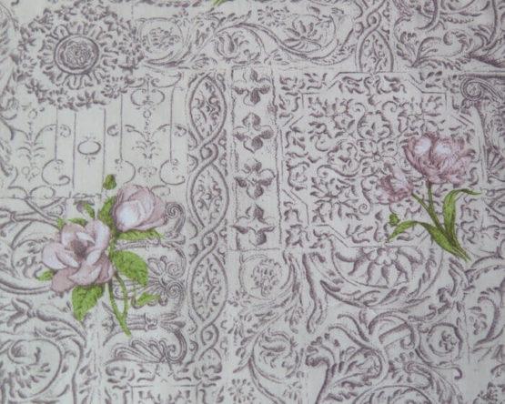 tela estampada barroca rosa