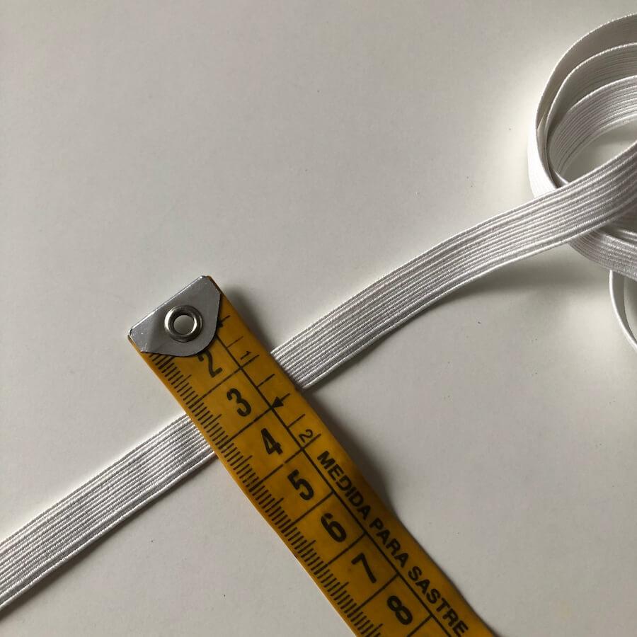 cinta goma blanca 1cm
