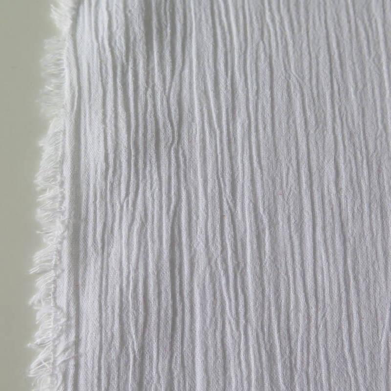 tela bámbula algodón blanco