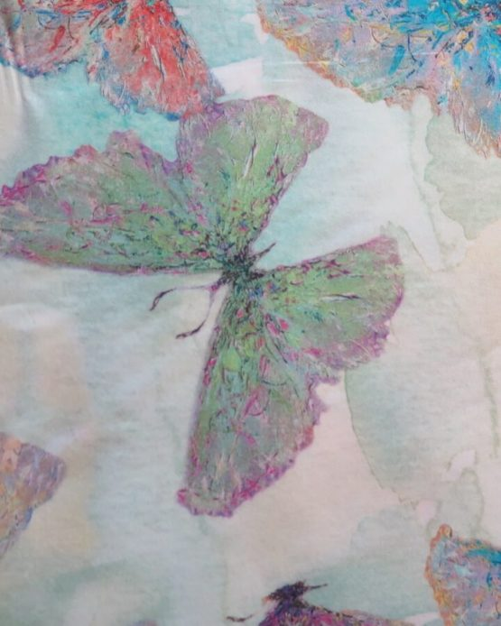 tela estampada mariposas cezanne