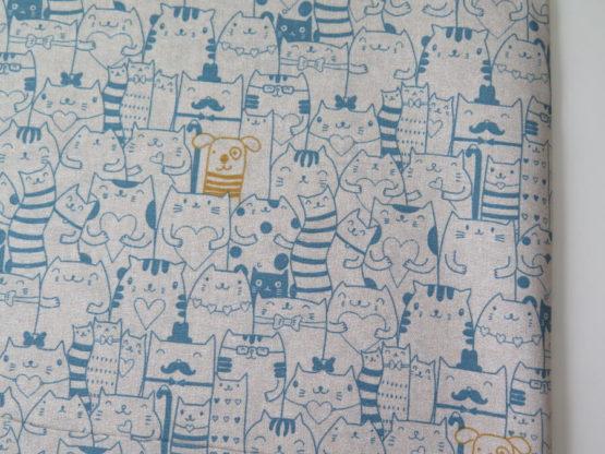 loneta estampada gatos