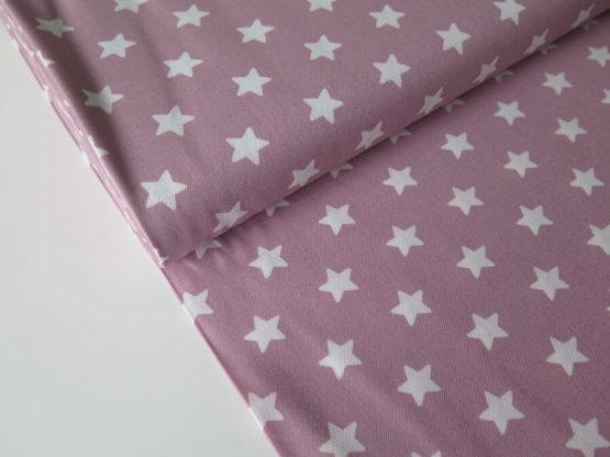 tela estampada estrellas rosa
