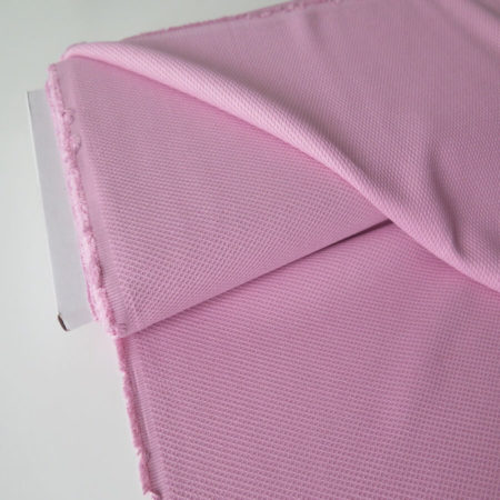 tela piqué nido abeja rosa