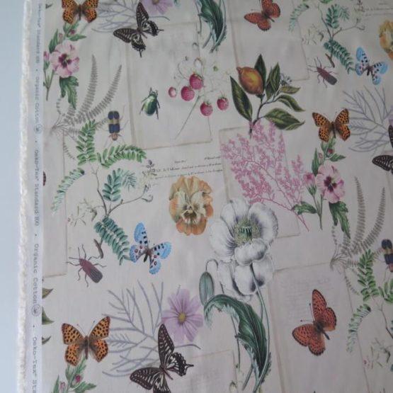 tela loneta estampada floral
