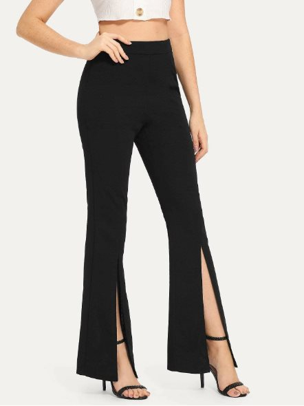 pantalones split de moda