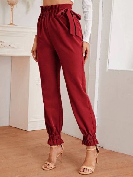pantalones slouchy con goma