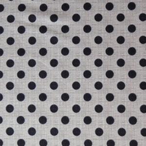 telas estampadas de lunares beige negro