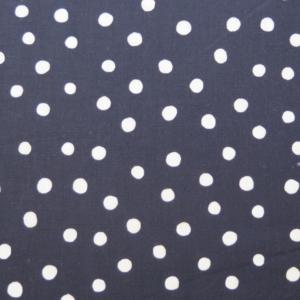 telas estampadas de lunares blanco negro
