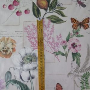 tela loneta estampado floral