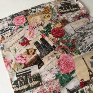 Telas estampadas postales Paris