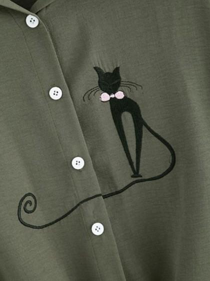 Bordados de gatos para blusas de tipo lleno