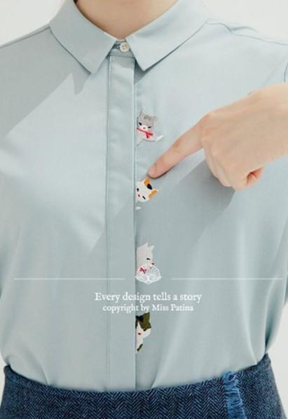 Otras ideas para elaborar bordados de gatos en una blusa