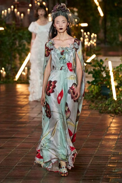 Vestido estampado de Flores de Rodarte