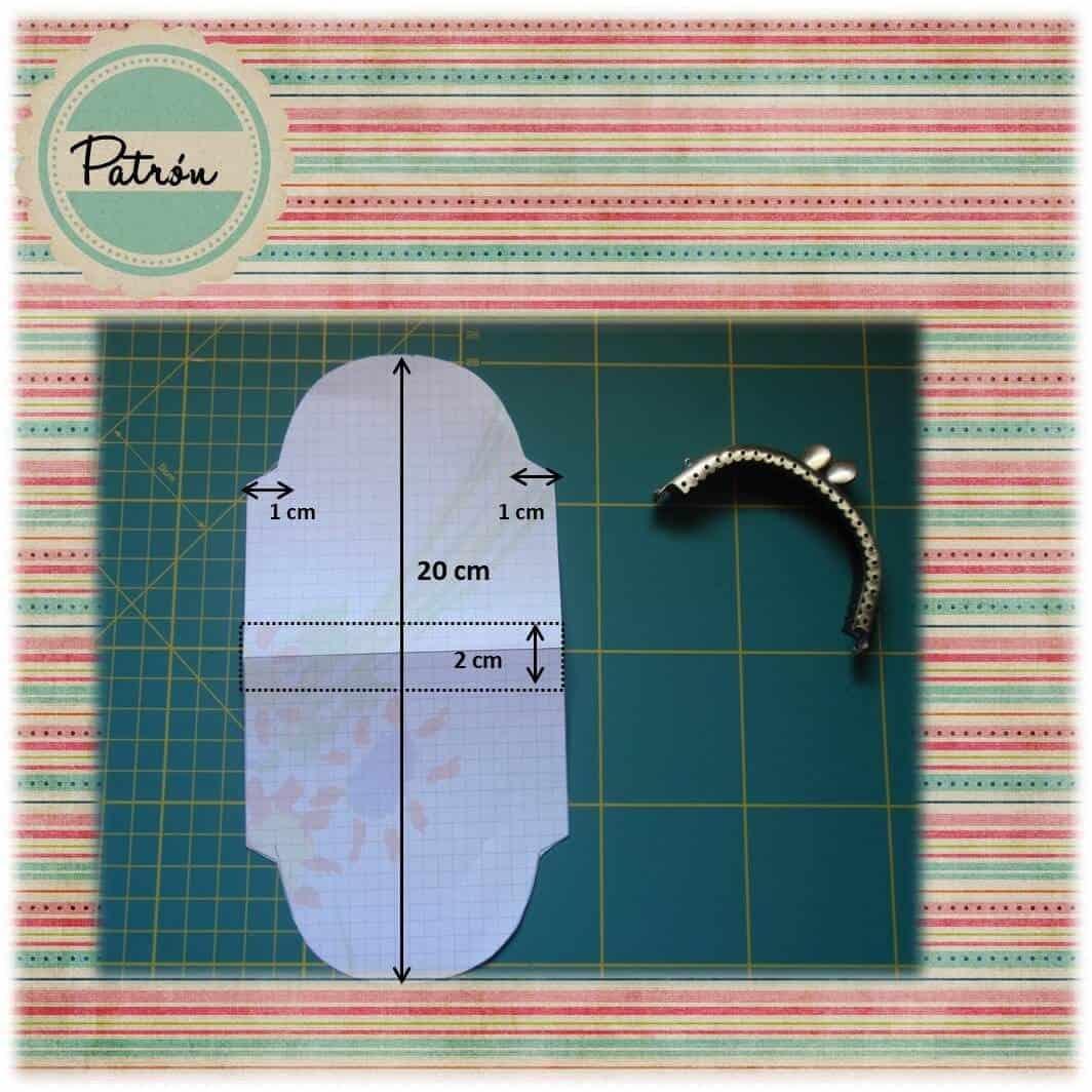 Patrón para hacer monedero de tela con boquilla metálica