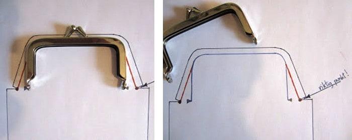 Utiliza la boquilla para dibujar la parte superior del patrón
