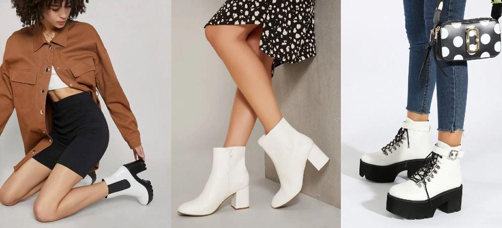 Diferénciate usando botas blancas