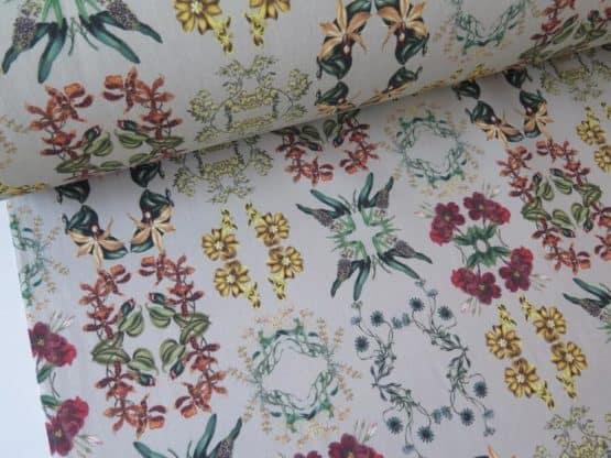tela tapiceria flores mirr