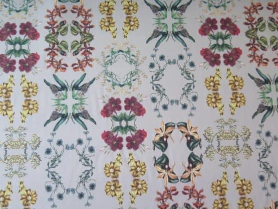 tela tapiceria de flores