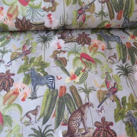 tela tapicería selva