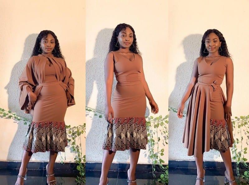 Ankara: Otro de los vestidos espectaculares de Oyinda Akinfenwa