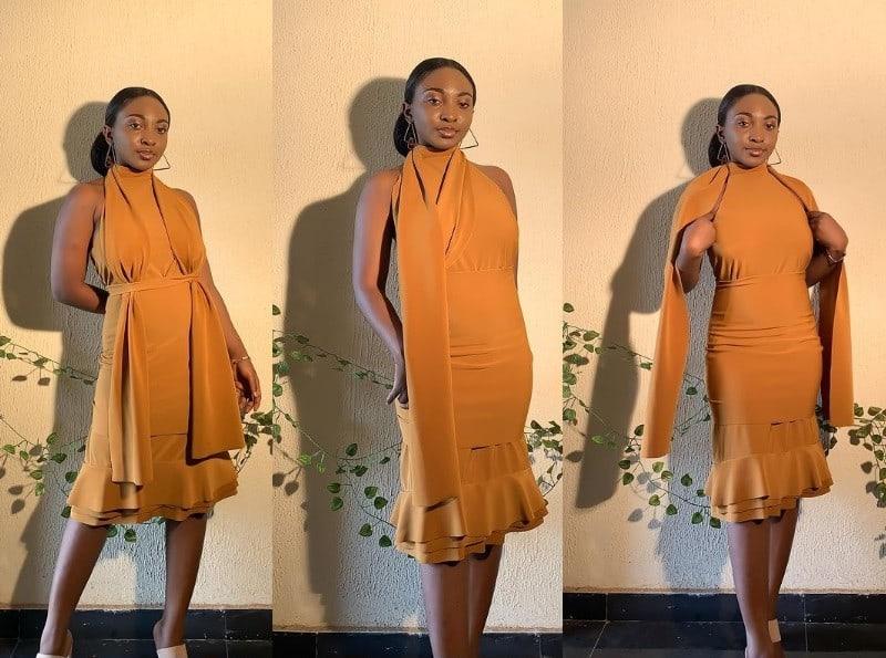 Mustard: uno de los vestidos espectaculares de Janore Brand