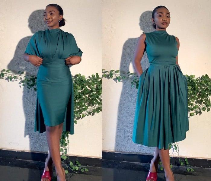 vestidos espectaculares de Oyinda Akinfenwa