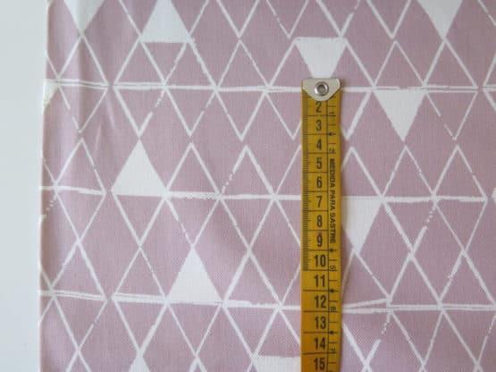 tela loneta geometrica rosa