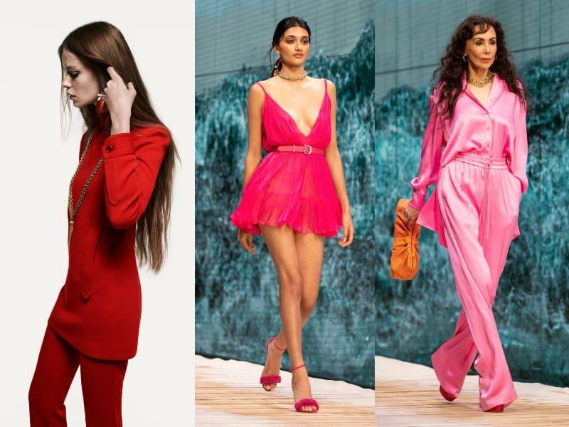 total looks en rojo, rosa, rosado o pink