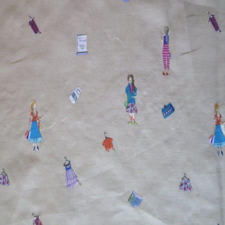 tela lino bordado