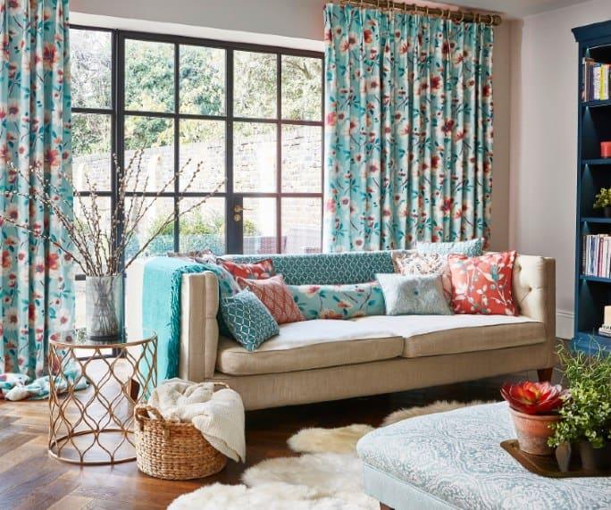 textiles de flores