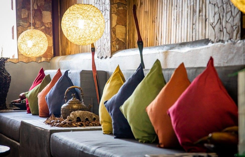 textiles para decorar el salon