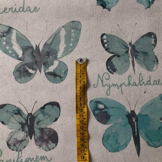 Papel pintado mariposas turquesa