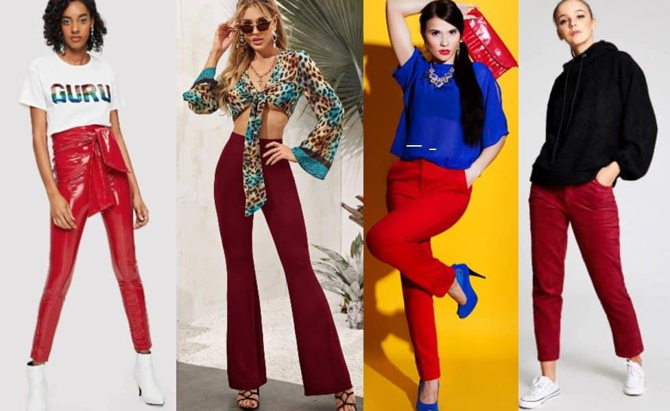 como combinar un pantalon rojo