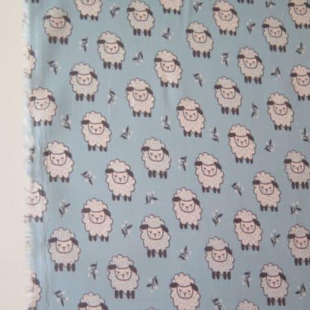 Tela viyela infantil ovejas