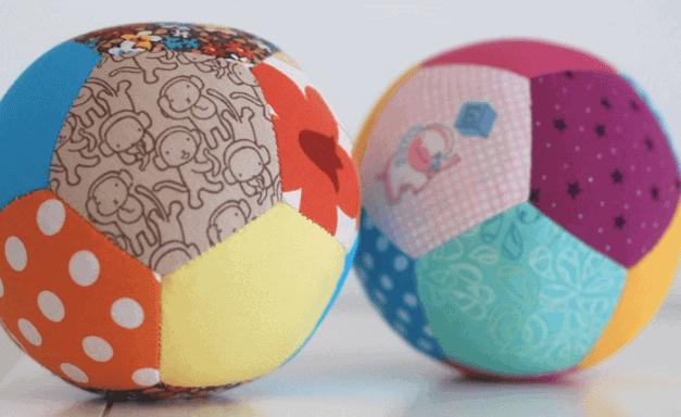 cómo hacer una pelota de tela