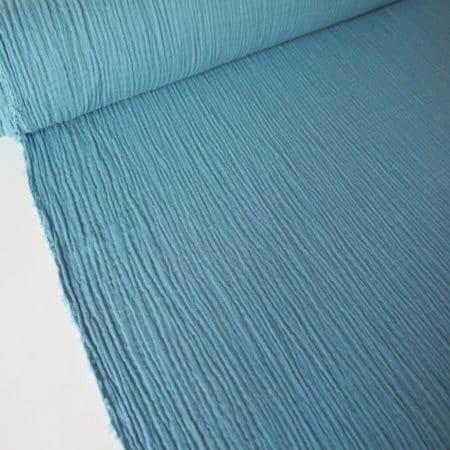 tela bámbula algodón azul